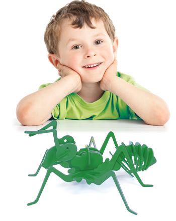 بازی فکری جورچین سه بعدی مورچه (سبز)