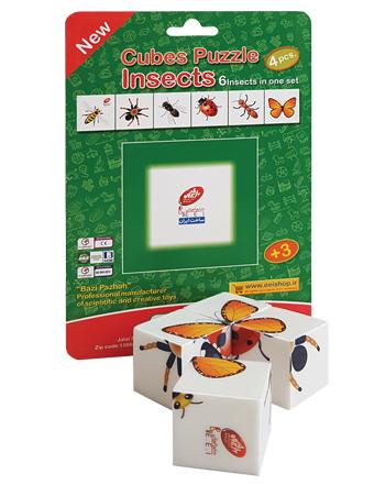 بازی فکری جورچین مکعبی حشرات